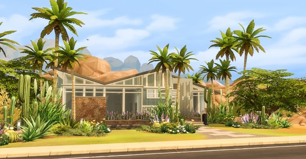 Simsational designs: Butterfly Ranch  A Mid Century Home