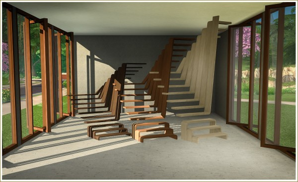 Sims 4 Designs Pivoting Windows And Sculptural Stairs
