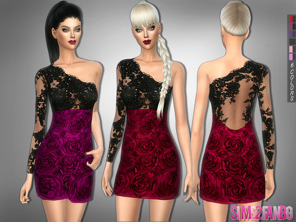 The Sims Resource: 228   Rose dress by sims2fanbg