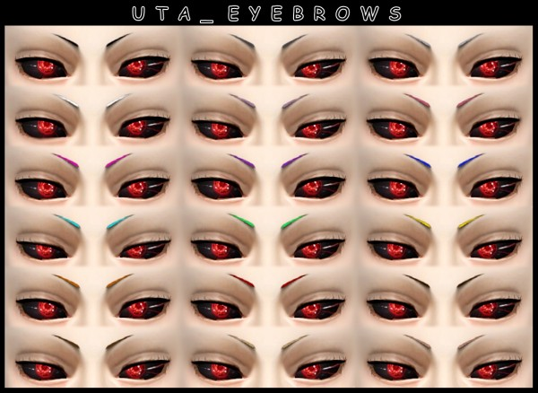 Decay Clown Sims: Uta eyebrows