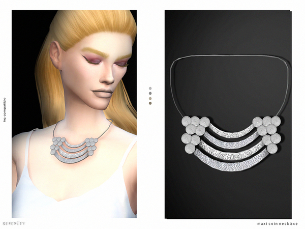The Sims Resource: Maxi Coins Necklace by serenity cc