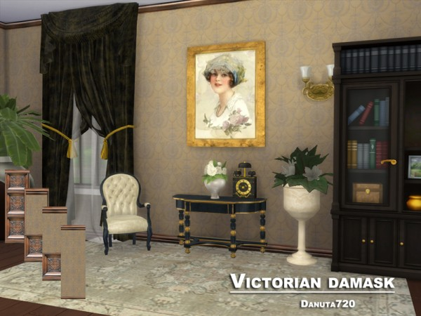 The Sims Resource: Victorian damask   Walls by Danuta720