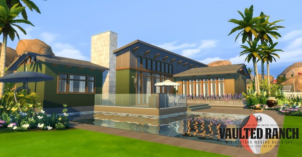 Simsational Designs: Vaulted Ranch: An MCM Inspired Build Set