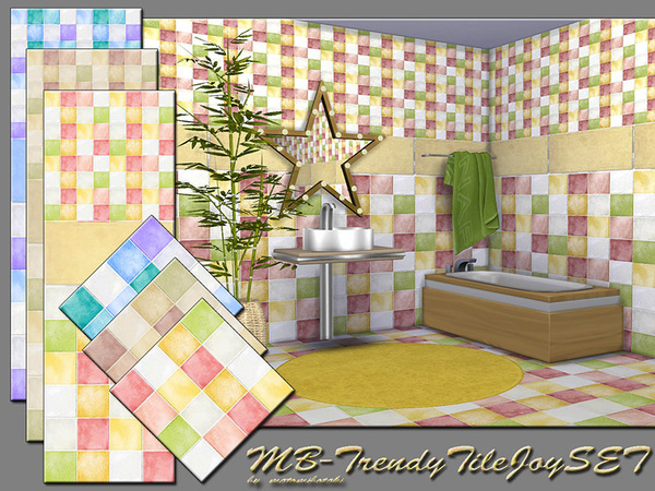 The Sims Resource: Trendy Tile Joy SET by matomibotaki