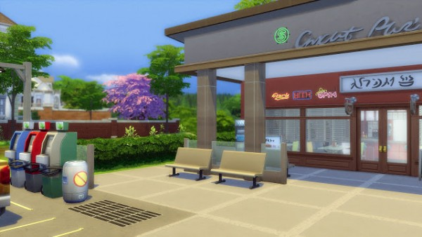 Melissa Sims 4: Cafe & Gas Station NoCC