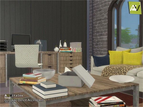 The Sims Resource: Gullmaj Office Accessories by Artvitalex