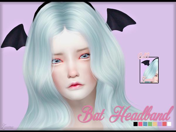 The Sims Resource: Yume   Bat Headband by Zauma