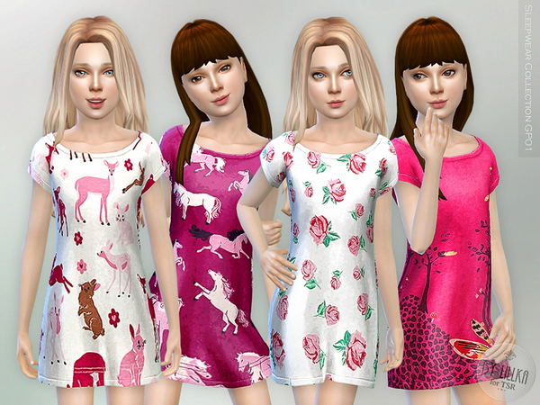 The Sims Resource: Sleepwear Collection GP01 by lillka