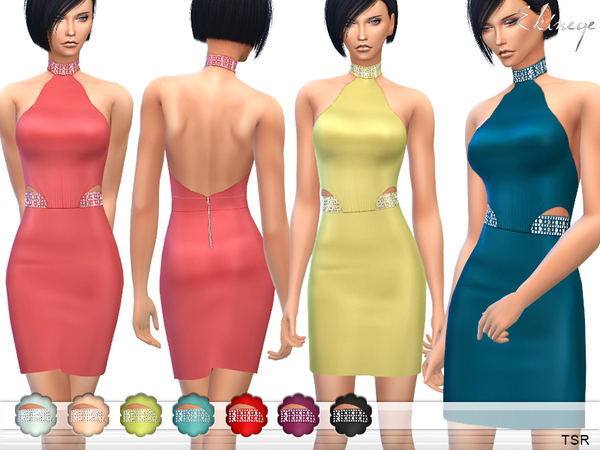 The Sims Resource: Dress With Embellished Trim by ekienege