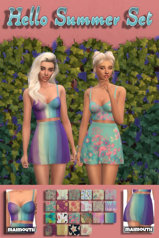Simsworkshop: Hello Summer Set