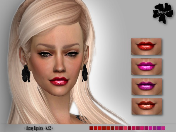 The Sims Resource: Glossy Lipstick N.32 by IzzieMcFire