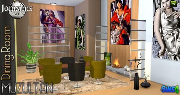 Jom Sims Creations: Muzultan diningroom