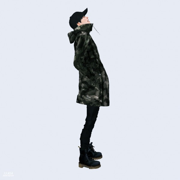 SIMS4 Marigold: Long Windbreak Jacket