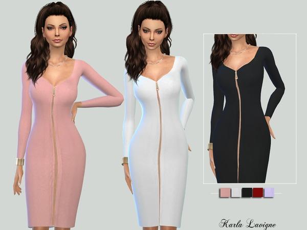 The Sims Resource: Aurela Dress by Karla Lavigne