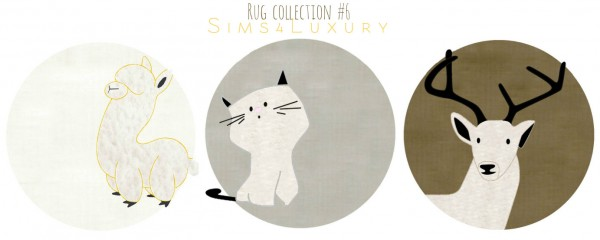 Sims4Luxury: Rug collection 6