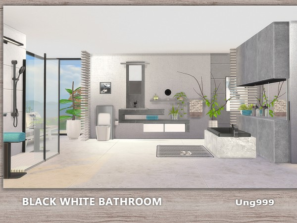 The Sims Resource: Black White Bathroom by ung999