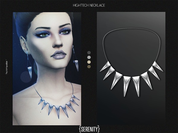 The Sims Resource: Hightech Necklace v.2 by serenity cc