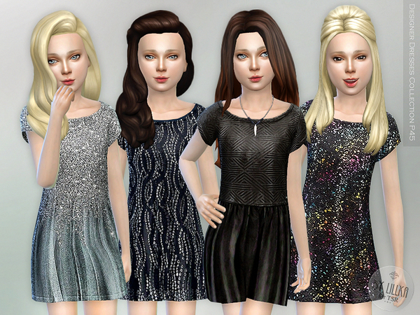 The Sims Resource: Designer Dresses Collection P45 by lillka