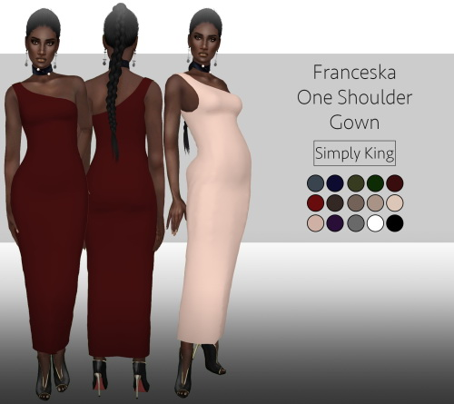 Simply King: Franceska One Shoulder Gown