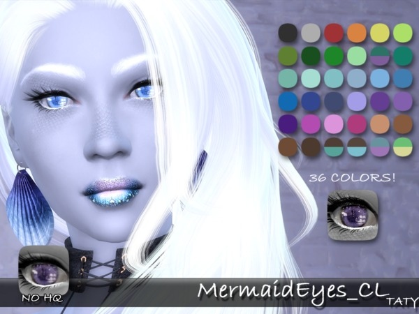 The Sims Resource Mermaid Eyes By Taty Sims 4 Downloads