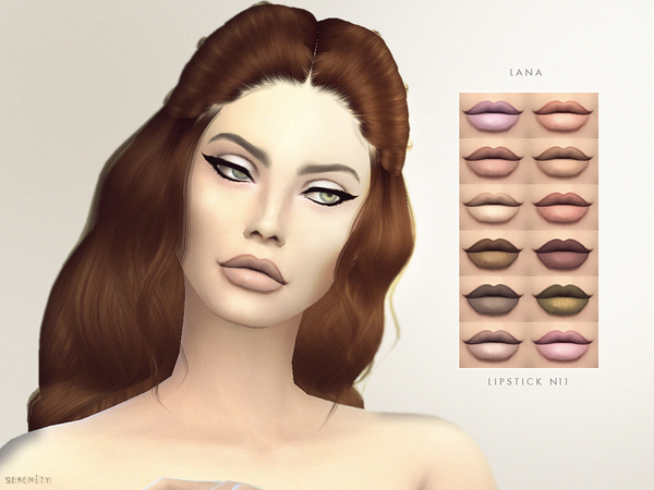 The Sims Resource: Lana   Lipstick N11 by serenity cc