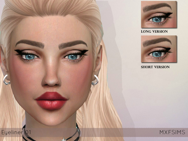 The Sims Resource: Eyeliner 01 by mxfsims