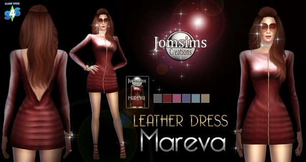 Jom Sims Creations: Mareva Leather Dress