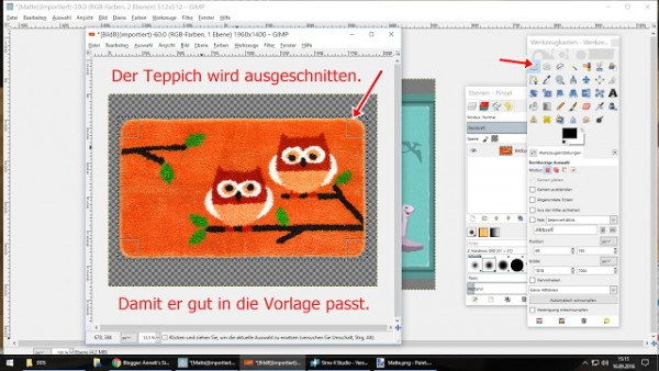 Annett`s Sims 4 Welt: How to fit a new carpet to the EA template?