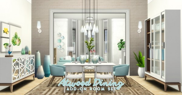 Simsational Designs Atwood Dining Content Collection
