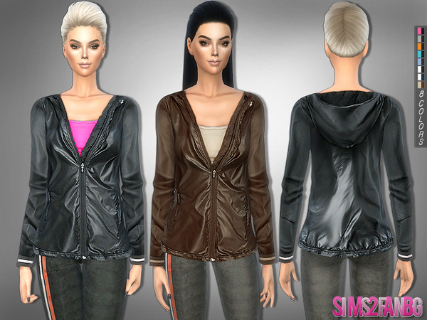 The Sims Resource: 227   Athletic jacket with top by sims2fanbg