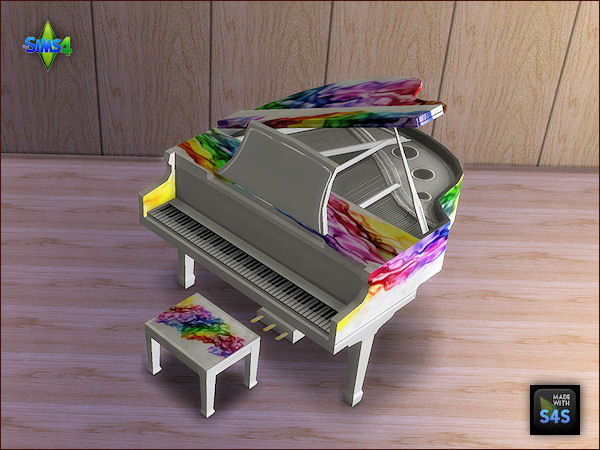 Arte Della Vita: Set of 6 recolored pianos