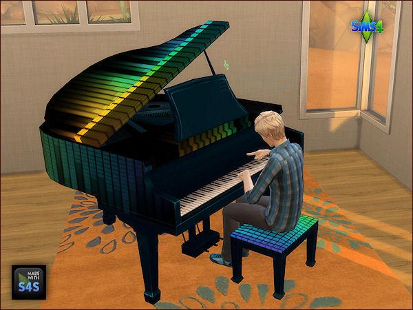 Arte Della Vita: Set of 6 recolored pianos