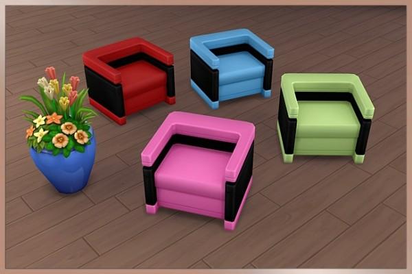 Blackys Sims 4 Zoo: Sao armchair black by Cappu