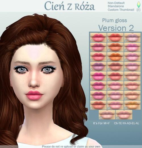 Cien z Roza: 500+ followers gift   Plum Gloss