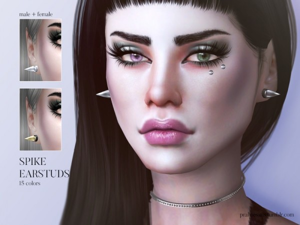 The Sims Resource: Spike Earstuds by Pralinesims