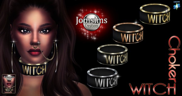 Jom Sims Creations: Witch choker