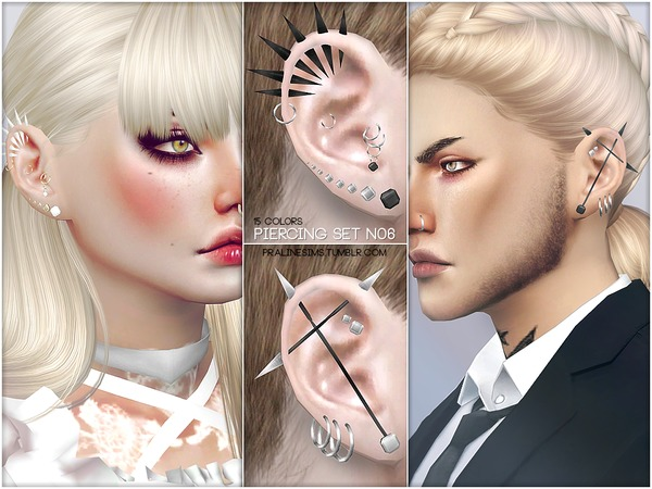 The Sims Resource: Piercing Set N06 by Pralinesims