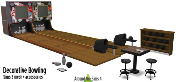 Around The Sims 4: Bowling set