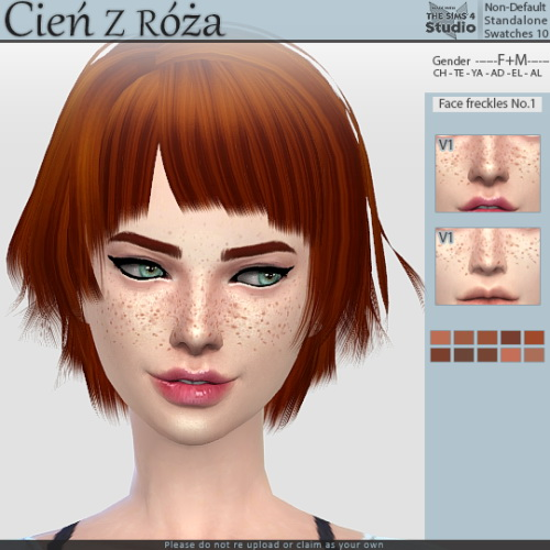 Cien z Roza: 600+ followers gift    Face freckles No.1