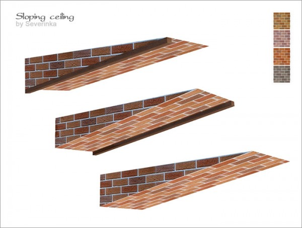 Sims by Severinka: Sloping ceiling