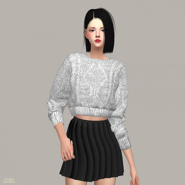 Sims 4 Cc S The Best Windows By Tingelingelater: SIMS4 Marigold: Crop Knit Sweater • Sims 4 Downloads