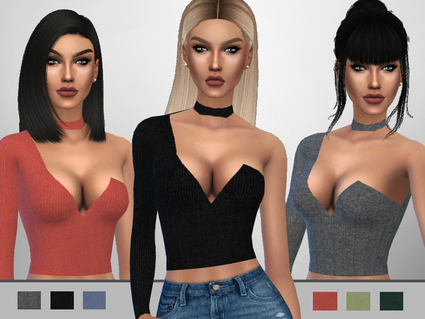The Sims Resource: Choker Top by Puresim