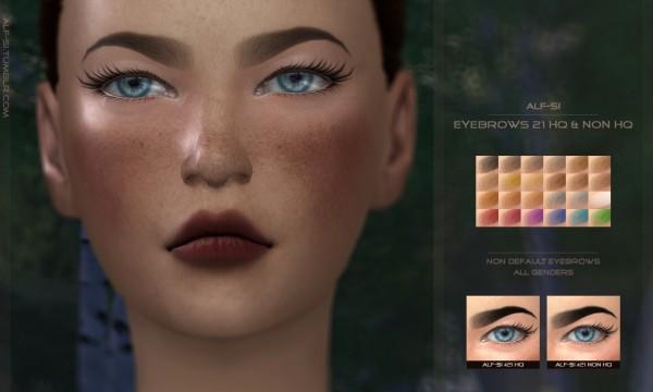 Alf Si: Eyebrows 20, 21 HQ & non HQ