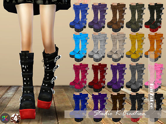 Studio K Creation Marie Rose Gothic Long Boots Sims 4