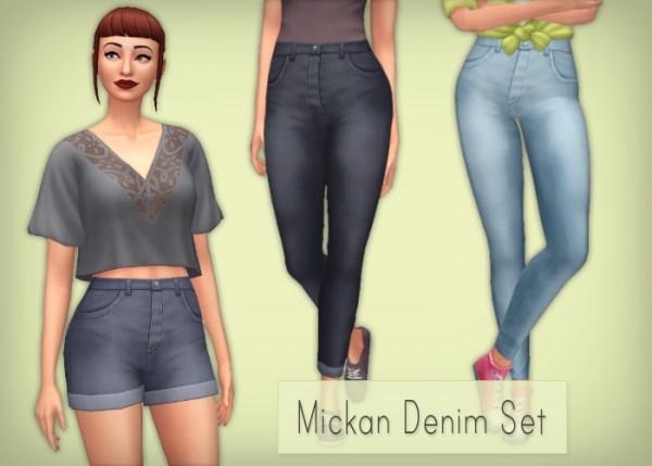 Simsrocuted: Mickan Denim Set