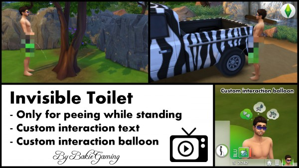 Mod The Sims: Invisible Toilet   Only for men by Bakie
