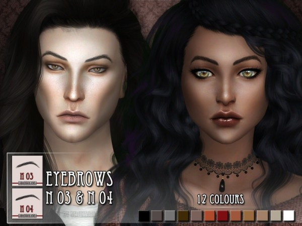 The Sims Resource: Eyebrows N03 and N04 by RemusSirion