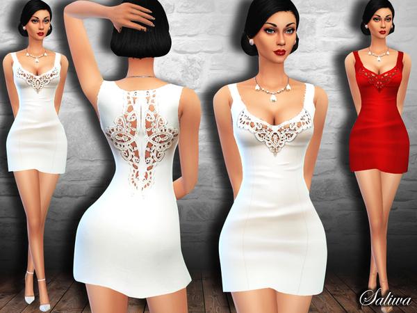 The Sims Resource: Style Lace Dress by Saliwa