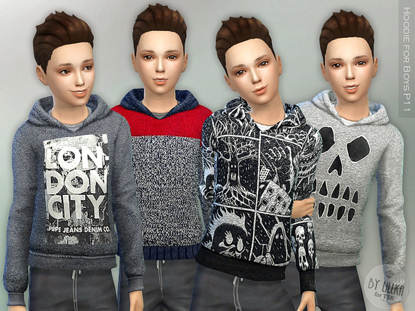 The Sims Resource: Hoodie for Boys P11 by lillka