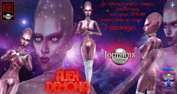 Jom Sims Creations: Alien Demonia costume